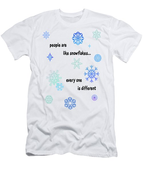 Snowflakes 3 Men's T-Shirt (Slim Fit) by Methune Hively
