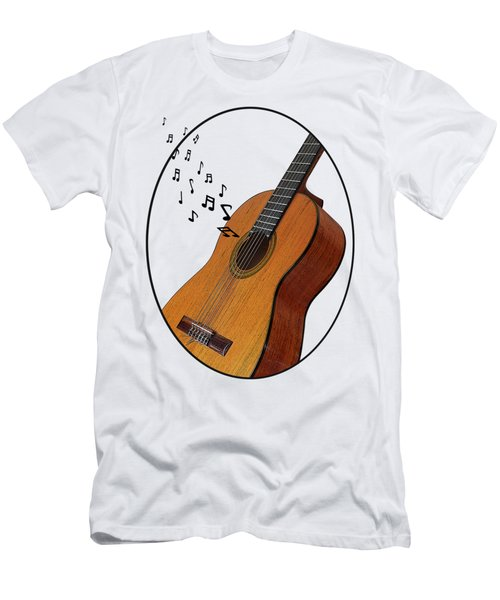 Acoustic Guitar Sounds Men's T-Shirt (Athletic Fit)