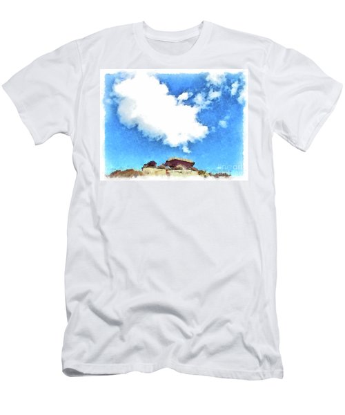 Arzachena Mushroom Rock With Cloud Men's T-Shirt (Athletic Fit)