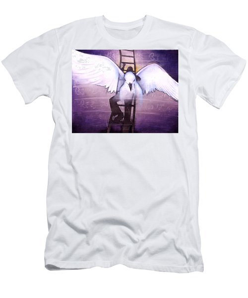 Men's T-Shirt (Slim Fit) featuring the painting Ascension by Christopher Marion Thomas
