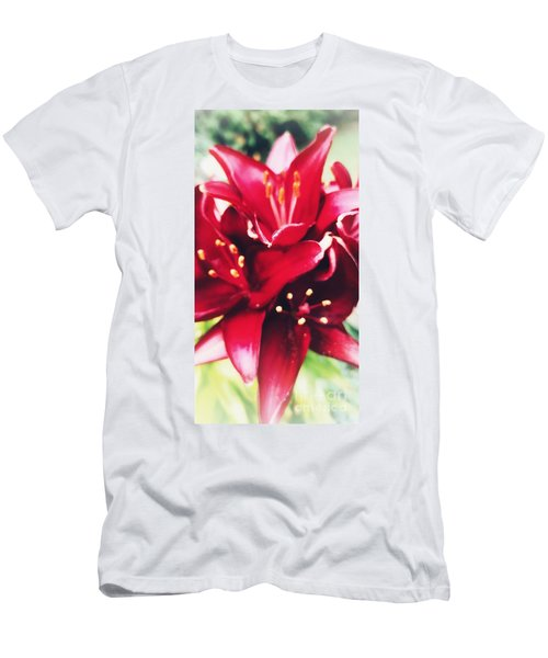 Asiatic Lilies Men's T-Shirt (Athletic Fit)