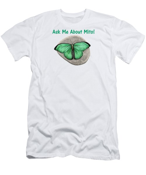 Ask Me About Mito T-shirt Or Tote Bag Men's T-Shirt (Athletic Fit)