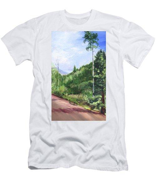 Men's T-Shirt (Slim Fit) featuring the painting Aspen Heaven by Jane Autry
