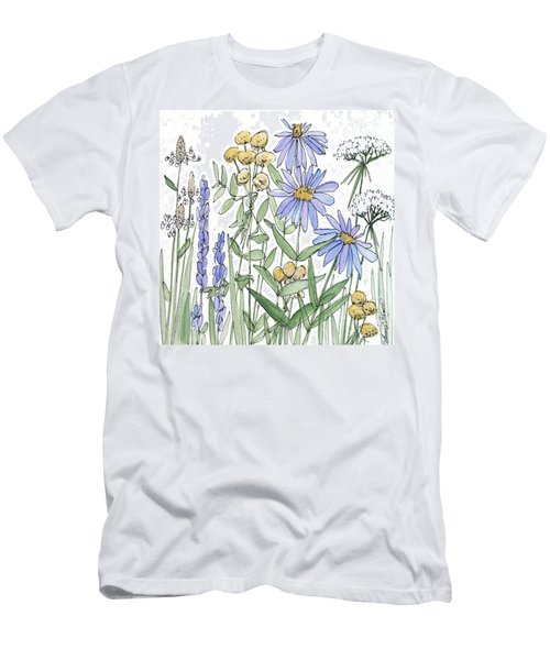 Asters And Wildflowers Men's T-Shirt (Athletic Fit)