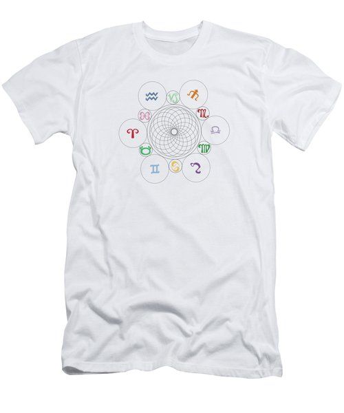Astrological Sacred Geometry Image Men's T-Shirt (Athletic Fit)