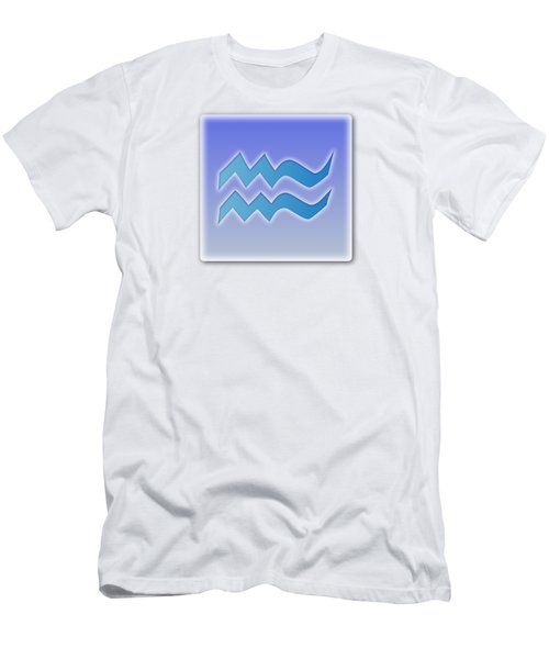 Aquarius Sun Sign Astrology  Men's T-Shirt (Athletic Fit)