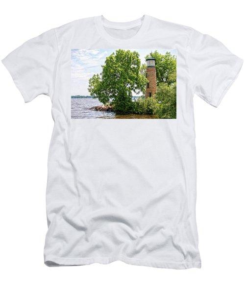 Asylum Point Lighthouse 1 Men's T-Shirt (Athletic Fit)