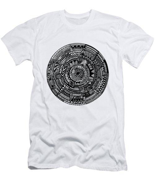 Asymmetry Men's T-Shirt (Slim Fit) by Elizabeth Davis