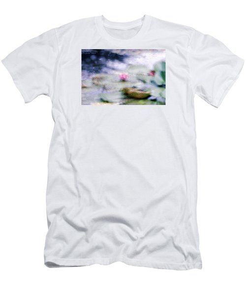At Claude Monet's Water Garden 12 Men's T-Shirt (Slim Fit) by Dubi Roman
