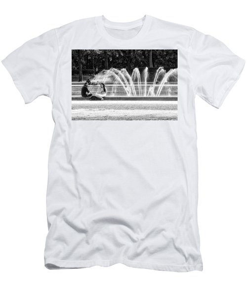 At The Fountain Men's T-Shirt (Athletic Fit)
