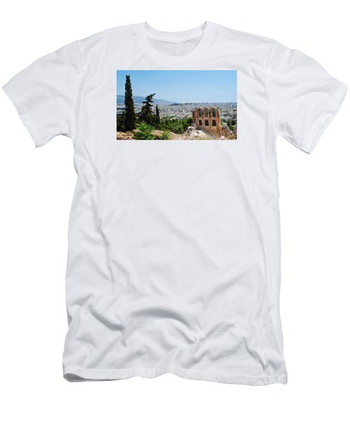 Athens From Acropolis Men's T-Shirt (Athletic Fit)