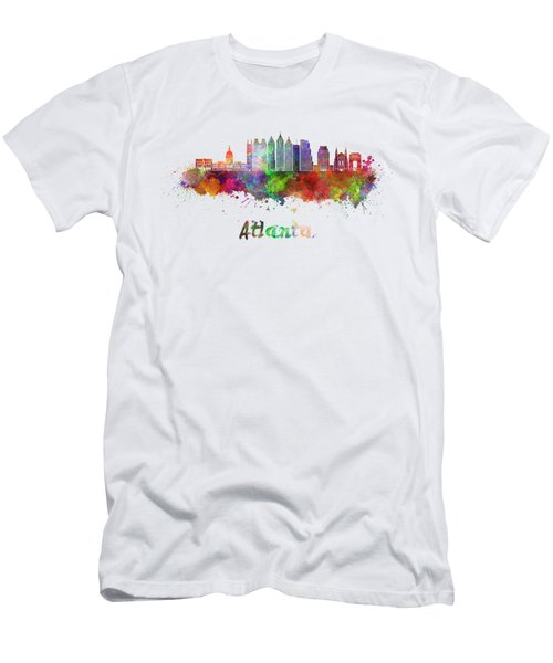 Atlanta V2 Skyline In Watercolor Men's T-Shirt (Athletic Fit)