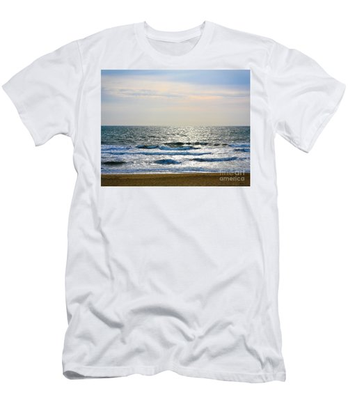 Atlantic Sunrise - Sandbridge Virginia Men's T-Shirt (Athletic Fit)