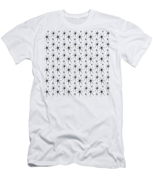 Men's T-Shirt (Athletic Fit) featuring the digital art Atomic Starbursts Mini by Donna Mibus