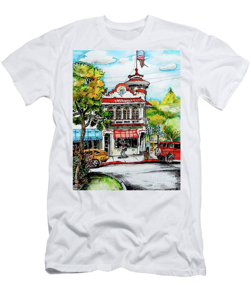 Men's T-Shirt (Slim Fit) featuring the painting Auburn Historical by Terry Banderas