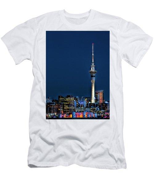 Auckland Skytower Men's T-Shirt (Slim Fit) by Karen Lewis