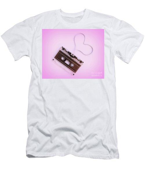Audio Cassette Love Pink Men's T-Shirt (Athletic Fit)