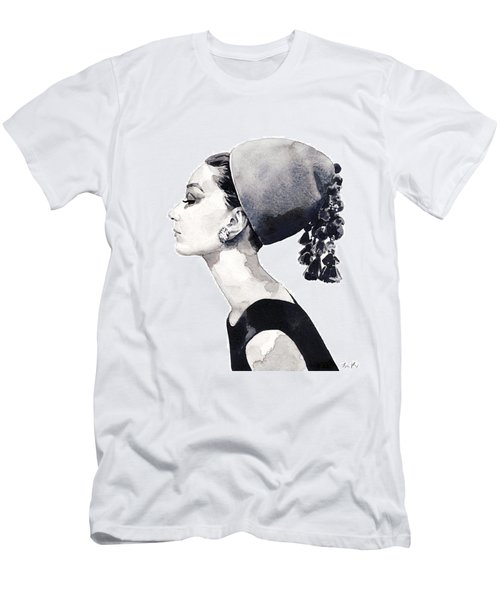 Audrey Hepburn For Vogue 1964 Couture Men's T-Shirt (Athletic Fit)