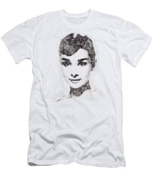 Audrey Hepburn Portrait 02 Men's T-Shirt (Slim Fit) by Pablo Romero