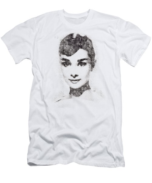 Audrey Hepburn Portrait 02 Men's T-Shirt (Athletic Fit)
