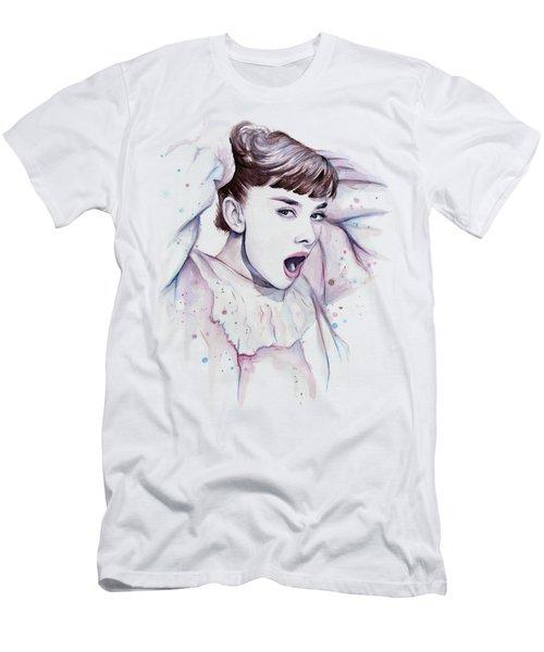 Audrey - Purple Scream Men's T-Shirt (Slim Fit) by Olga Shvartsur