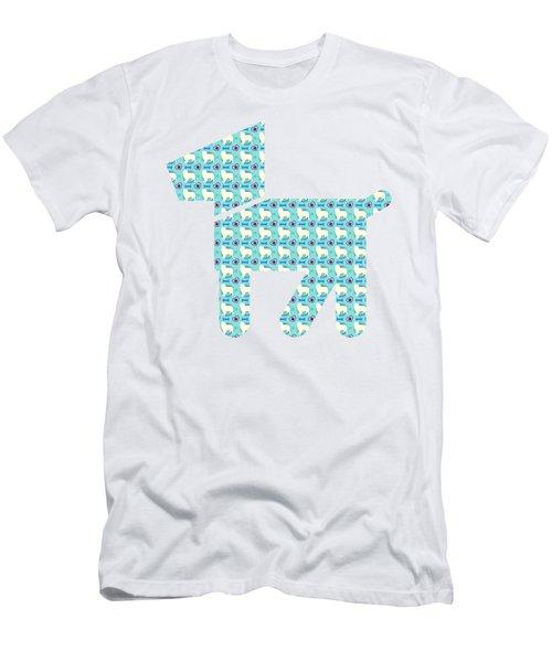 Aussie Dog Pattern Men's T-Shirt (Athletic Fit)