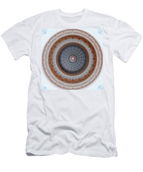 Austin Capitol Dome In Gray And Brown Men's T-Shirt (Athletic Fit)