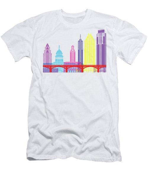 Austin Skyline Pop Men's T-Shirt (Slim Fit) by Pablo Romero