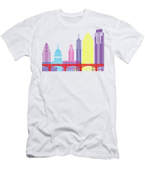 Austin Skyline Pop Men's T-Shirt (Athletic Fit)