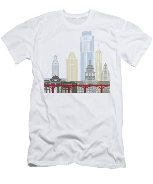 Austin Skyline Poster Men's T-Shirt (Athletic Fit)