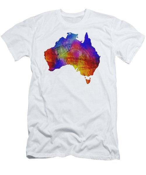 Australia And Sydney Harbour Bridge By Kaye Menner Men's T-Shirt (Athletic Fit)