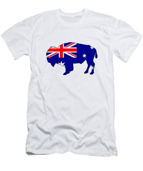 Australian Flag - Bison Men's T-Shirt (Athletic Fit)