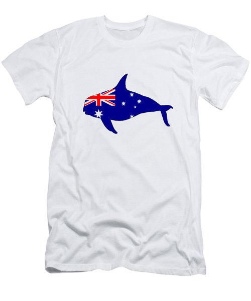 Australian Flag - Killer Whale / Grampus / Orca Men's T-Shirt (Slim Fit) by Mordax Furittus