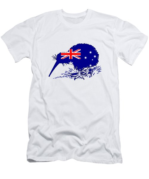 Australian Flag - Kiwi Bird Men's T-Shirt (Athletic Fit)