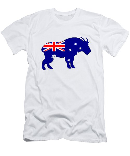 Australian Flag - Mountain Goat Men's T-Shirt (Athletic Fit)