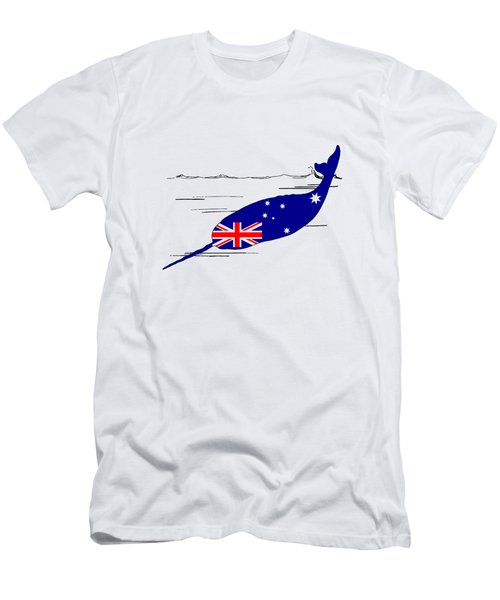 Australian Flag - Narwhal Men's T-Shirt (Slim Fit) by Mordax Furittus