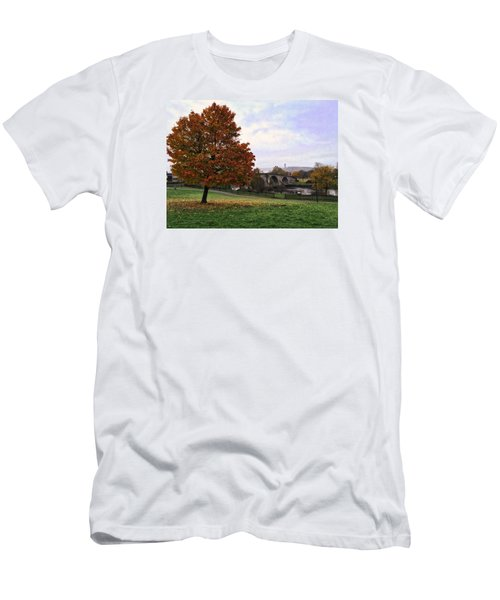 Men's T-Shirt (Slim Fit) featuring the photograph Autumn At Stirling Bridge by RKAB Works