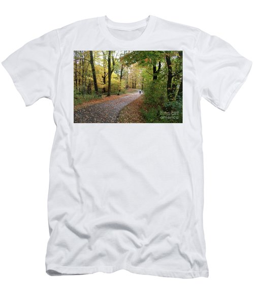Autumn Bicycling Men's T-Shirt (Slim Fit) by Felipe Adan Lerma