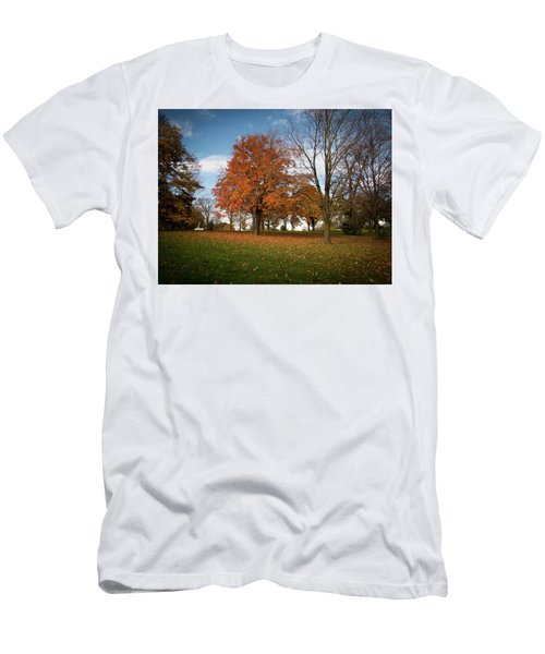 Autumn Bliss Men's T-Shirt (Slim Fit) by Kimberly Mackowski