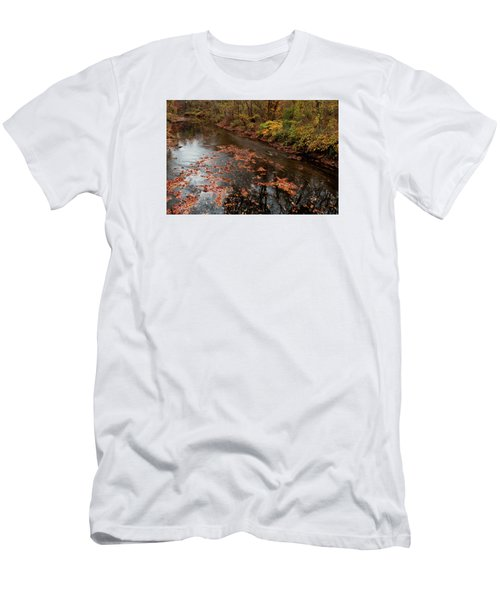 Autumn Carpet 003 Men's T-Shirt (Slim Fit) by Dorin Adrian Berbier
