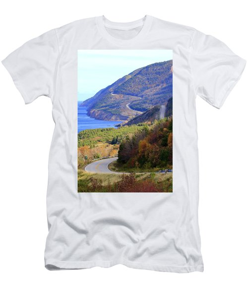 Autumn Color On The Cabot Trail, Cape Breton, Canada Men's T-Shirt (Athletic Fit)