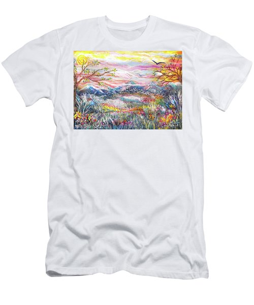 Autumn Country Mountains Men's T-Shirt (Athletic Fit)