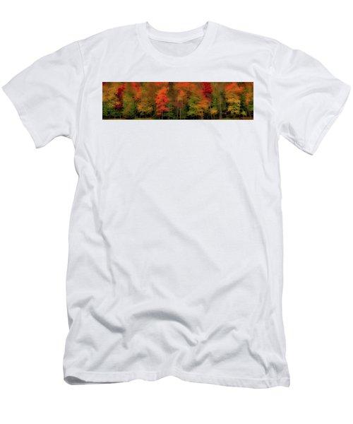 Autumn Fence Line Men's T-Shirt (Athletic Fit)