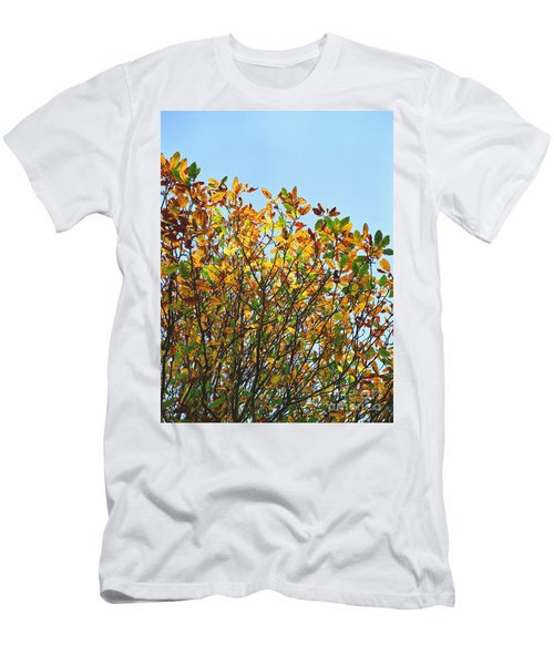 Men's T-Shirt (Slim Fit) featuring the photograph Autumn Flames - Original by Rebecca Harman