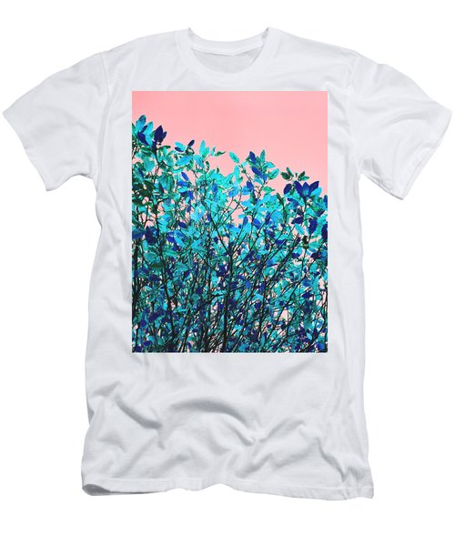 Men's T-Shirt (Slim Fit) featuring the photograph Autumn Flames - Peach by Rebecca Harman