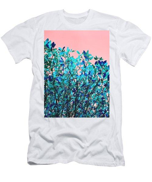 Autumn Flames - Peach Men's T-Shirt (Slim Fit) by Rebecca Harman