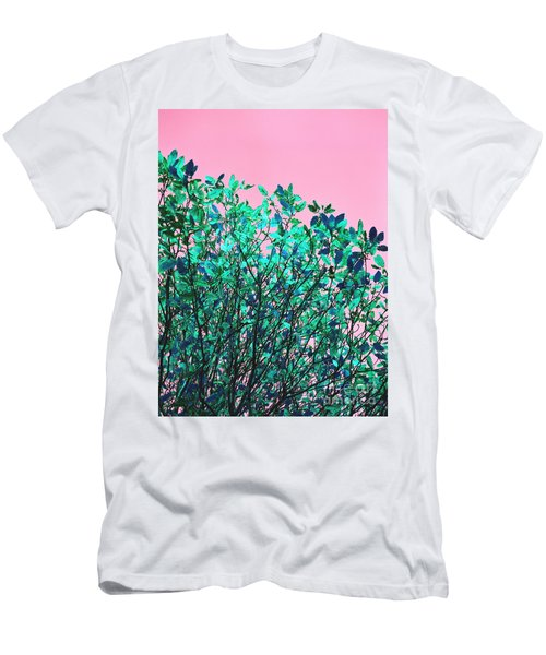 Men's T-Shirt (Slim Fit) featuring the photograph Autumn Flames - Pink by Rebecca Harman