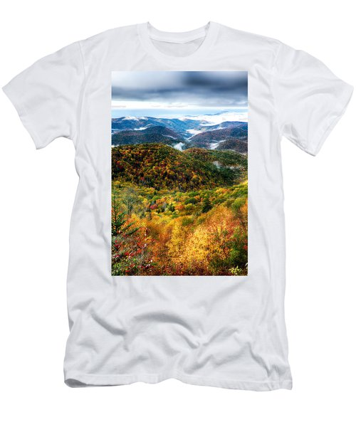 Autumn Foliage On Blue Ridge Parkway Near Maggie Valley North Ca Men's T-Shirt (Athletic Fit)