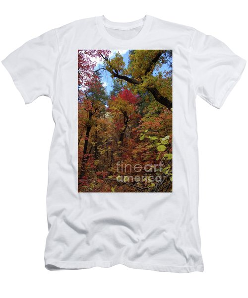 Men's T-Shirt (Athletic Fit) featuring the photograph Autumn In Sedona by Frank Stallone