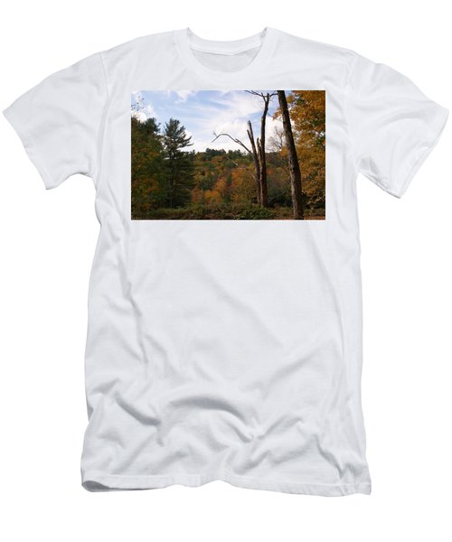 Autumn In The Hills Men's T-Shirt (Slim Fit) by Lois Lepisto